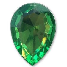 13mm x 18mm Emerald Green Teardrop Shape Acrylic Embellishment Gems